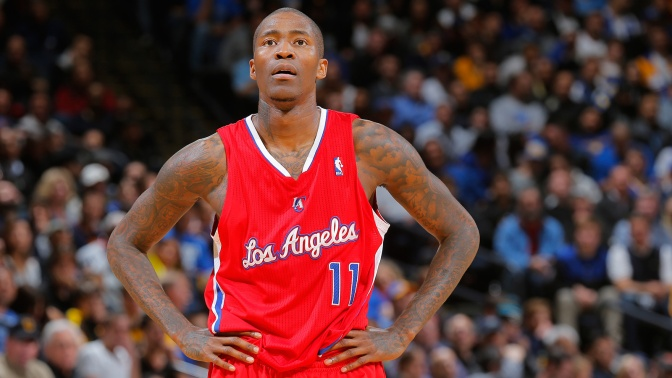 Jamal Crawford #11 of the Los Angeles Clippers during a game against the Golden State Warriors on January 30, 2014 at Oracle Arena in Oakland, California.