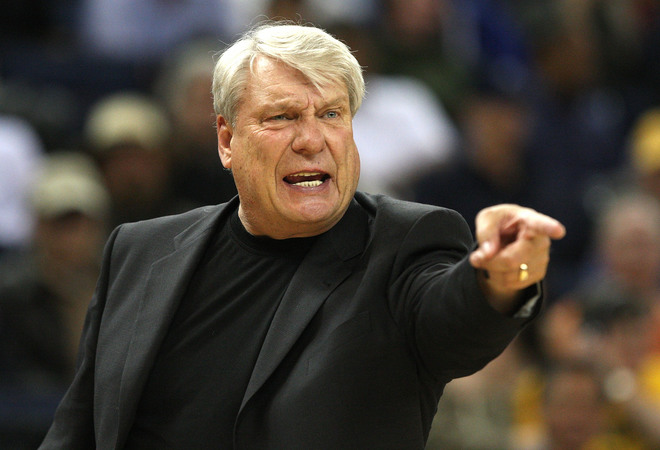OAKLAND, CA - MARCH 30: Head coach Don Nelson of the Golden State Warriors yells against the Memphis Grizzlies during an NBA game on March 30, 2009 at Oracle Arena in Oakland, California. NOTE TO USER: User expressly acknowledges and agrees that, by downloading and or using this photograph, User is consenting to the terms and conditions of the Getty Images License Agreement. (Photo by Jed Jacobsohn/Getty Images)